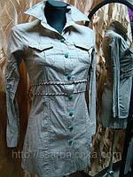 Туника-рубашка  бежевая р.M,L ,XL ,XXL Цена розн: 348.00 грн.  Цена опт: 264.00 грн. модные туники