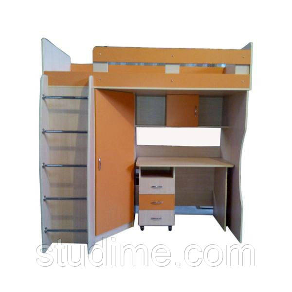 Детские кровати со столом и шкафом фото