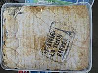 Полуторное шерстяное одеяло Лери Макс ткань GOLD