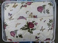 Двуспальное шерстяное одеяло Лери Макс GOLD - бабочки и розы