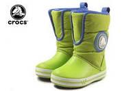 Зимние светящиеся сапоги крокс. Сrocs Kids' CrocsLights  из США.