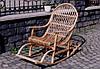 Кресло качалка из екологически чистой лозы