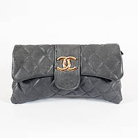 Модный женский клатч Chanel 2235 из эко кожи серого цвета