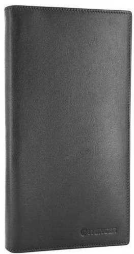 Лаконичное мужское портмоне из натуральной кожи Wenger 2-01BK черный