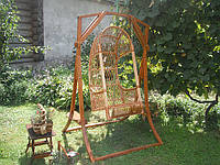 Качеля садовая из лозы