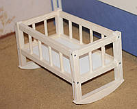 Деревянная игрушечная кроватка для кукол (смерека), 44*26*25 см.