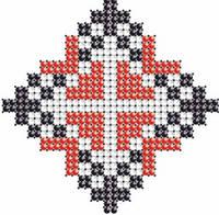 Схема на ткани для вышивания бисером Алла-имя закадированное в вышиванке КМР 7102