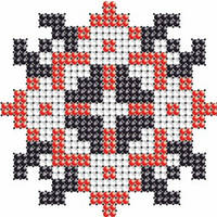 Схема на ткани для вышивания бисером Алина - имя закадированное в вышиванке КМР 7101