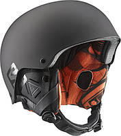 Горнолыжный шлем Salomon BRIGADE AUDIO Black Mat/Orange (MD 17)
