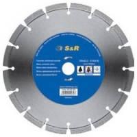Диск отрезной сегментный S&R по бетону Premium 115