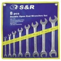Набор ключей гаечных рожковых S&R 8шт (8х9-27х32мм)
