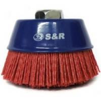 Щетка чашечная прямая S&R, абразивная проволока 100