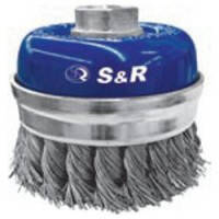 Щетка чашечная прямая S&R, стальная плетенная проволока 100