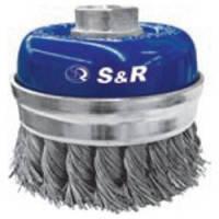 Щетка чашечная прямая S&R, стальная плетенная проволока 80