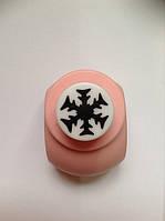 Дырокол фигурный Снежинка кнопка 1,8 см
