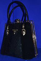 Замшевая сумочка PRADA Прада с эксклюзивной застежкой,черная