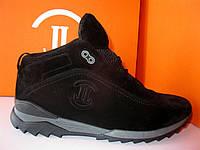 Зимние мужские замшевые ботинки на шнурке