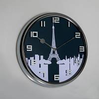 """Стильные настенные часы """"Ночной город"""" 32х6 см"""