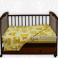Комплект постельного белья в кроватку Мишутка