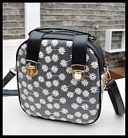 Модная сумка-рюкзак в ромашку! По низкой цене. Интернет магазин сумок. Новая модель женской сумки. Код: КСМ235