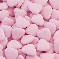 Конфеты для бонбоньерок розового цвета, драже с шоколадом в форме сердечек 250 г, купить