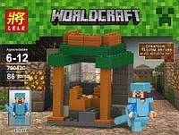 """Конструктор Lele Minecraft 79042С """"Стив с мечом в доспехах"""" , 81 дет."""