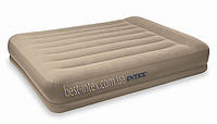 Надувная двуспальная кровать Intex 67748 (152х203х38 см. ) + встроенный насос 220V.