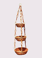 Цветочник подвесной из лозы