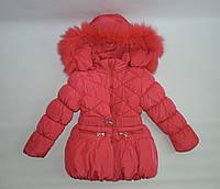 Теплая зимняя куртка на девочку ( 3-6 ) лет
