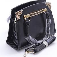 Качественная женская сумка из искуственной кожи 808 black