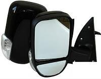 Зеркало боковое YH-3296A/Газель Black/light/черное с поворотом