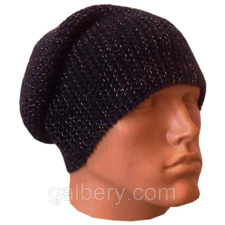 Мужская вязаная шапка-носок объемной ручной вязки: продажа ...