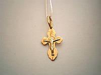 Золотой крест с распятием 585 пробы