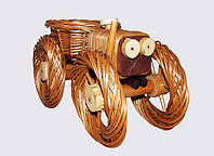 Цветочник Трактор из лозы средний, фото 1