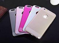 Чехол 2 в 1 силиконовая накладка+золотая крышка  для Iphone 6+/6S plus