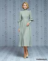 Короткое платье с воротником-стойка