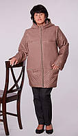 Модная женская куртка большого размера из кашемира и плащевки