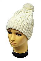 Белая обьемная шапка унисекс