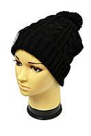 Стильная молодежная шапка унисекс черного цвета