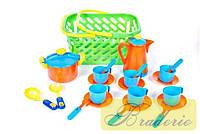Набор детской посуды в корзине Kinder way 04-437
