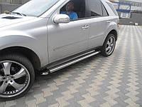 Боковые пороги (площадка, ступенька) Mercedes ML klass W164