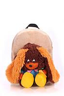 Плюшевый рюкзак дошкольный с зайцем