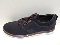 Мужские туфли на плоской подошве нубук