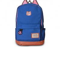 Рюкзак с ушками котик синий