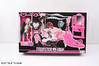 Кукла Монстр Хай  шарнирная с комплектом мебели