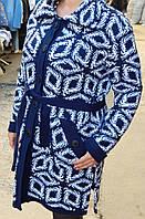 Вязаное женское пальто на осень