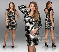 Платье с болеро трикотаж пайетка размеры 50, 52, 54, 56, 58