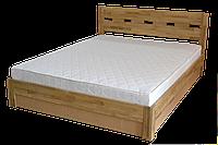 Деревянная Дубовая Кровать «Диана» с подъемным механизмом (Дубовый щит)
