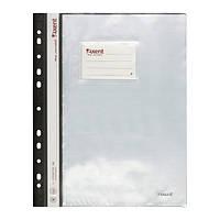 Папка-скоросшиватель Axent А4 с 20 файл, оникс, серая