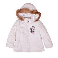 Белоснежная демисезонная куртка для девочки